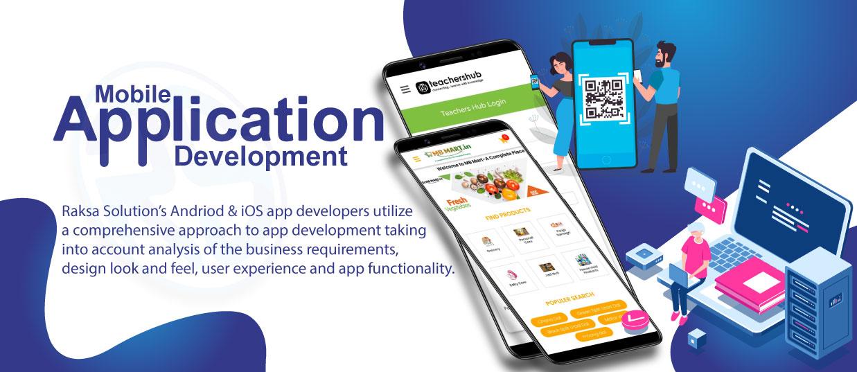 Android & iOS Application Development Raksa Solution - Aao Brand Banae