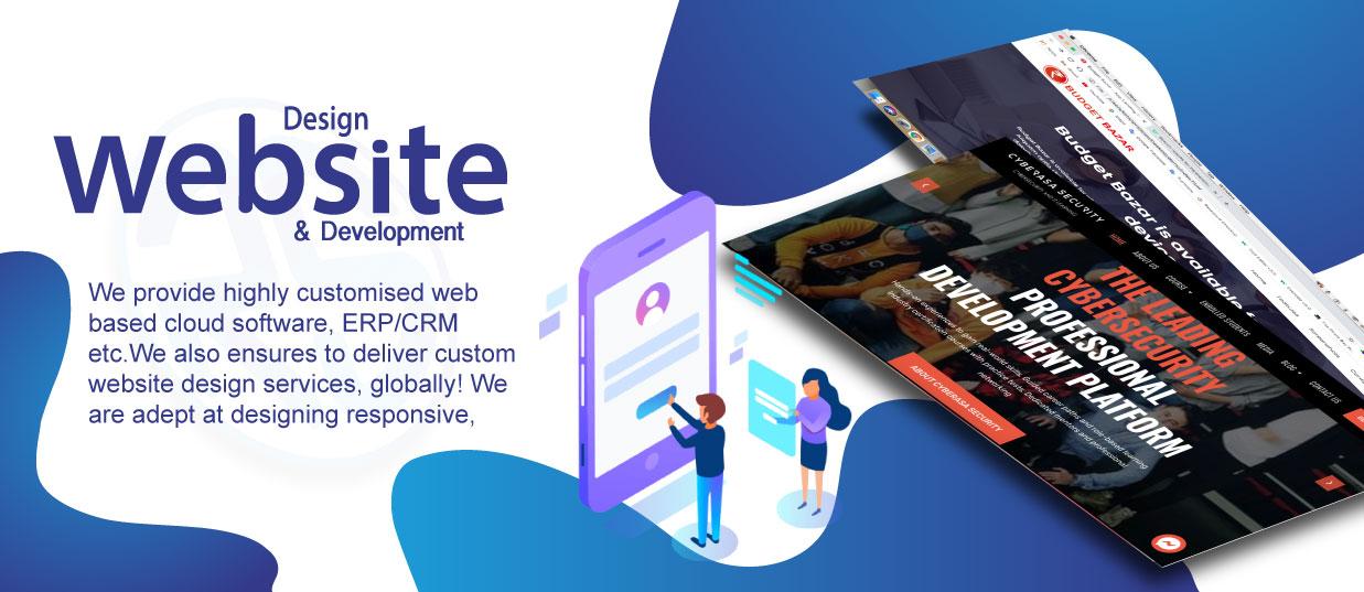 Website Design Web Development Raksa Solution - Aao Brand Banae